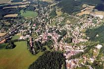 Letecký snímek města