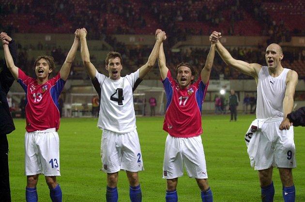 PETR VOŘÍŠEK (vlevo) v dresu národního týmu.