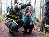 Hasiči cvičili v lese v Kyjově.