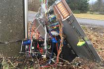 Zničený radar ve studánce u Varnsdorfu