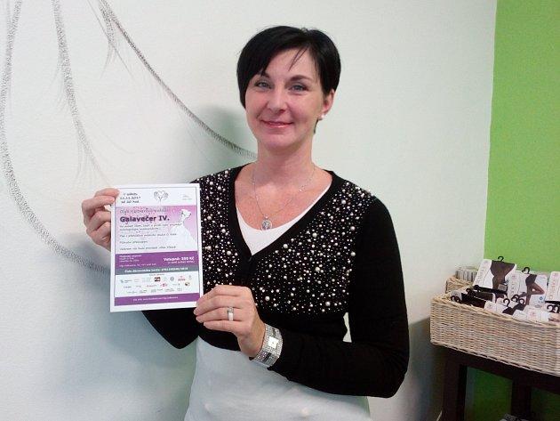 Olga Keltnerová pořádá letošní galavečer pro onkologicky nemocné pacienty.