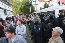 Pokračování shromáždění v Rumburku.