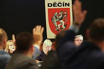Jednání děčínských zastupitelů.