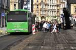 Frézování ulice Prokopa Holého v Děčíně.