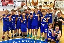 Mladí basketbalisté z Děčína (U 13) vyhráli turnaj v Kyjově.