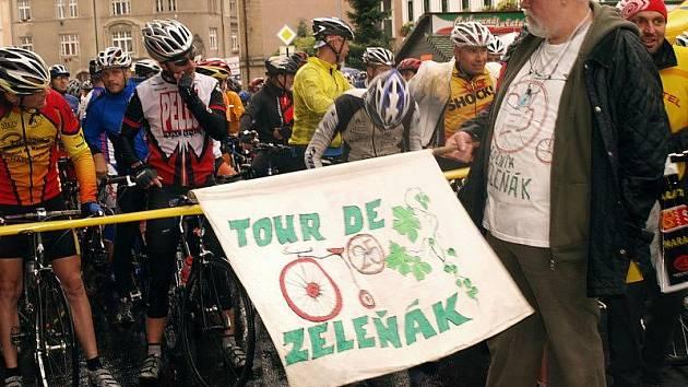 Cyklistický Zeleňák provázel déšť