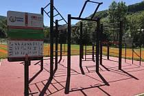 Workoutové hřiště v Březinách.