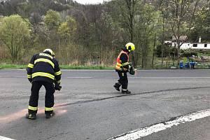 Zásah hasičů Benešov nad Ploučnicí