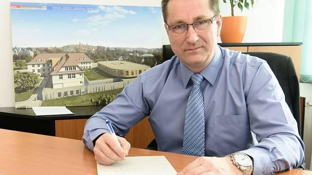 Ředitel Lužické nemocnice v Rumburku Petr Dubravec.