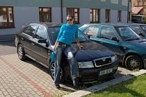 Ukradená Škoda Octavia.