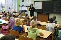 Přednášky prevence kriminality na děčínských školách.