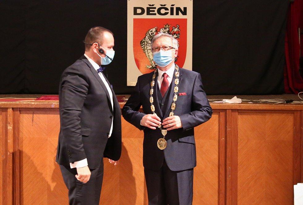 Novým primátorem Děčína se stal Jiří Anděl (vpravo)