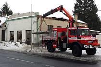 Ve Varnsdorfu se zřítilo bývalé kino.