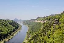 Vyhlídka Kleine Bastei (Malá Bašta) nad Schmilkou.