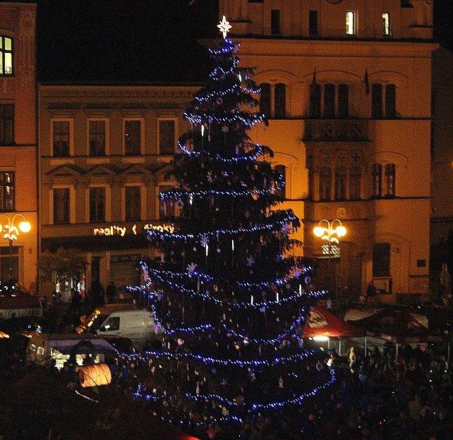 Rozsvícení vánočního stromu v Děčíně.