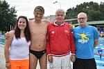 Zleva Jana Veselá (plavčík), Miroslav Smrčka, Petr Budínský a Martin Bauer (aquapark).