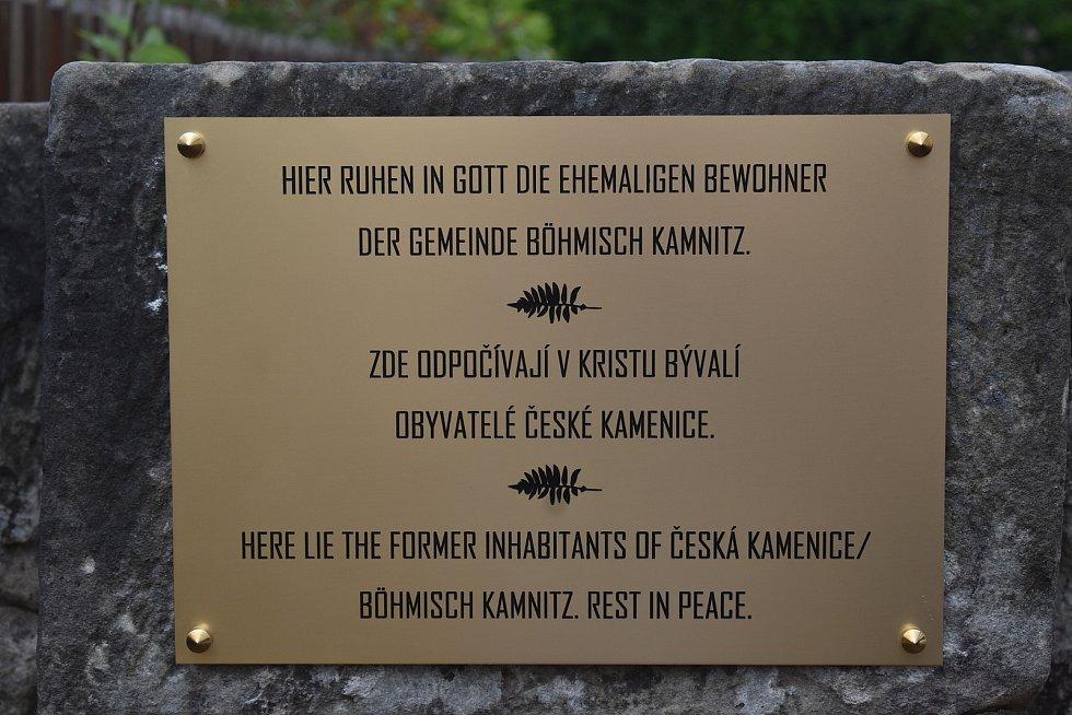 V České Kamenici uložili ostatky českých Němců.