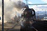 Děčínskem projel parní vlak