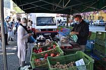 Farmářské trhy v Děčíně.