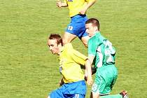 U obou gólů Slovanu byl v utkání s Blšany Jordák (u míče).