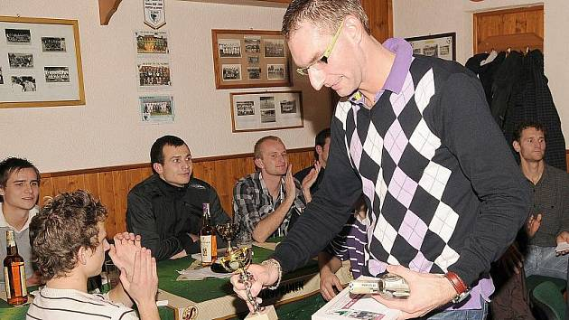 Nejlepším hráčem podzimu byl gólman Josef Loos.