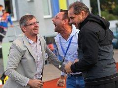 RADOST realizačního týmu ve složení Zbyněk Přibyl (vedoucí týmu), David Oulehla (trenér) a Libor Macháček (asistent) byla veliká.