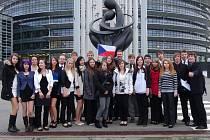 Studenti rumburského gymnázia.