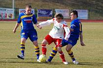BITVA V JIHLAVĚ. Naposledy Varnsdorf (v modrém Chod a Hozda) porazili doma 2:0 Zlín.