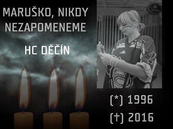 Děčín truchlí za smrt mladé hokejové fanynky.