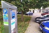 Parkovací automat v Děčíně.
