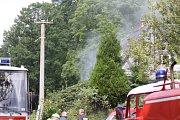 Požár v Jiříkově, 28. srpna 2017.
