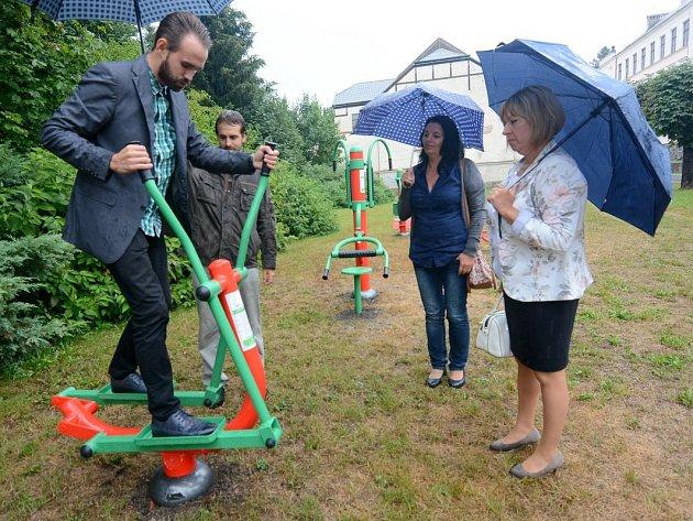 Šluknov má nový venkovní fitpark.