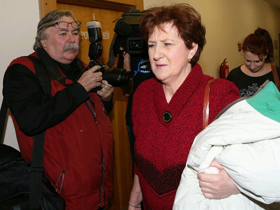 Věra Marešová před ústeckým krajským soudem.