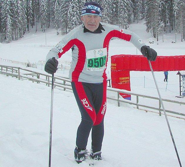 Daniel Málek při tréninku ve Slovinsku.