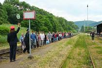 Protestní akce proti zrušení Kozí dráhy v Libouchci