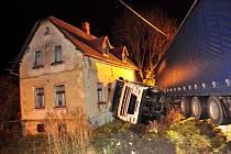 Dopravní nehoda kamionu.