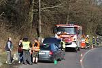 Dopravní nehoda mezi Malou Velení a Benešovem nad Ploučnicí.