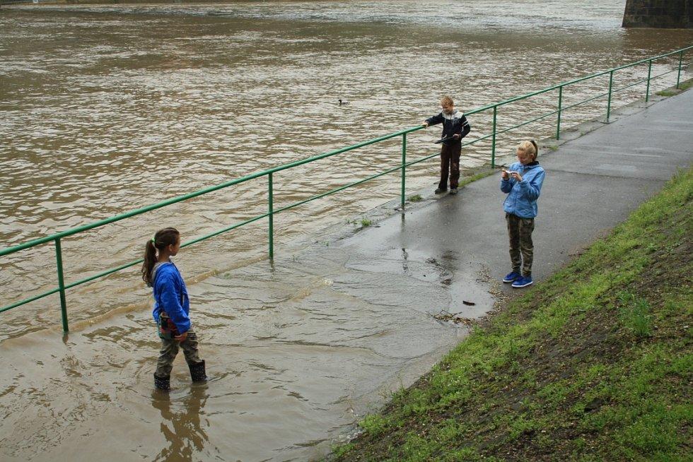 Povodně Děčín 2013.