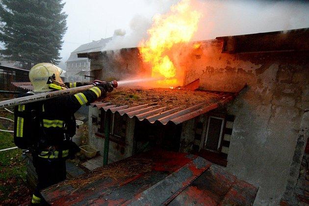 Požár v Krásné Lípě