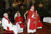 V neděli 26. navštívil Šluknov litoměřický biskup Mons.Jan Baxant.