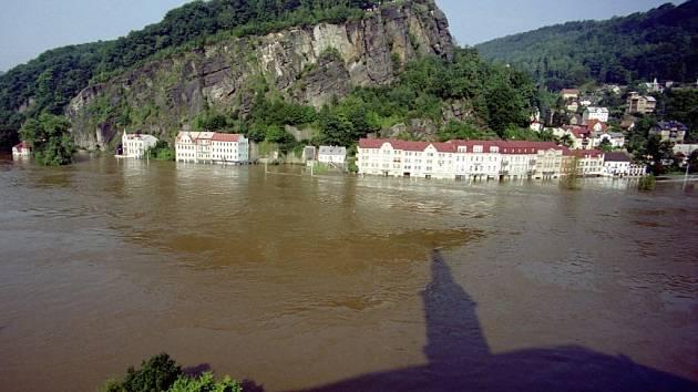 Děčín povodeň 2002