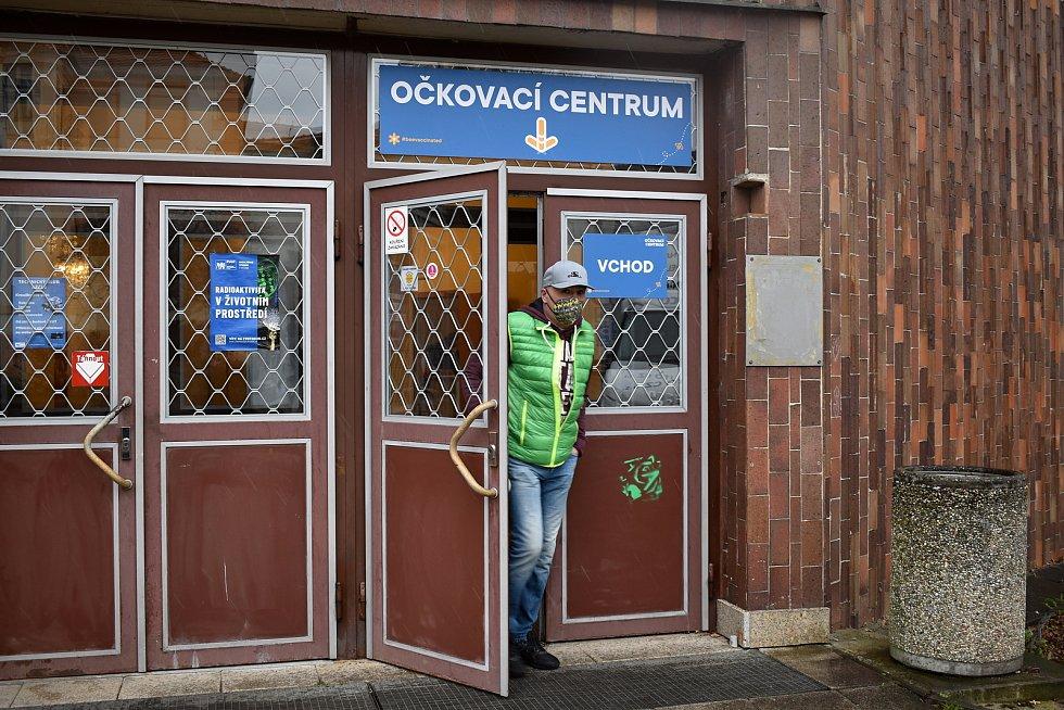 Vakcinační centrum v budově ČVUT v Děčíně.