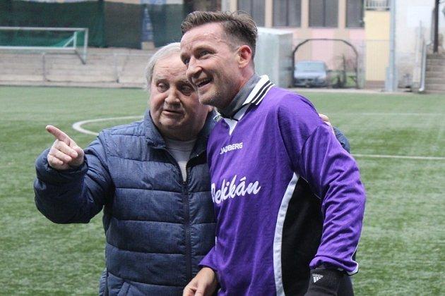 Vladimír Šmicer při 23.setkání bývalých členů FK Pelikán Děčín.