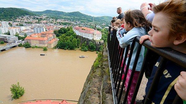 Povodně Děčín, 5.6.2013odpoledne