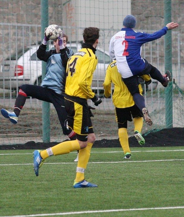Víkendové kolo poháru nabídlo i zápas mezi Juniorem Děčín a Českou Kamenicí.