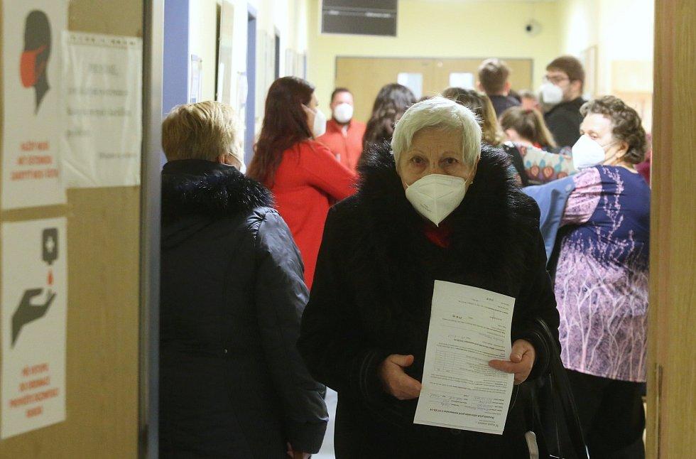Očkování v Masarykově nemocnici v Ústí nad Labem.