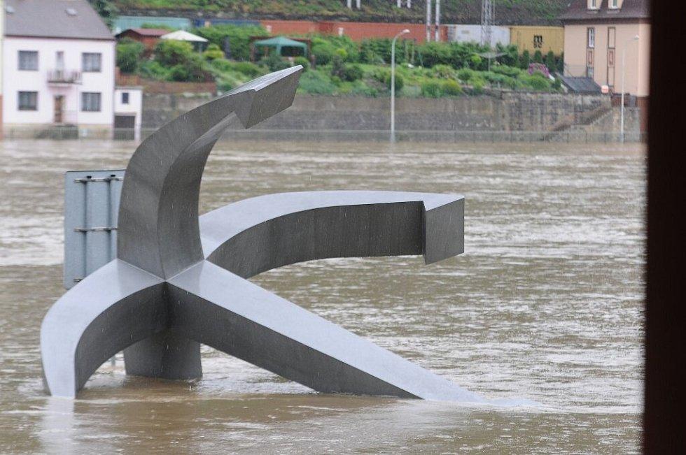 Povodně Děčín, 4.6. 2013, poledne