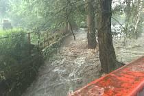 Bleskové povodně na Děčínsku.