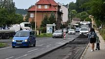Rekonstrukce části Teplické ulice v Děčíně. Ilustrační foto.