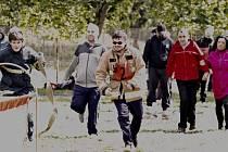 Speciální hasičská olympiáda pro postižené.